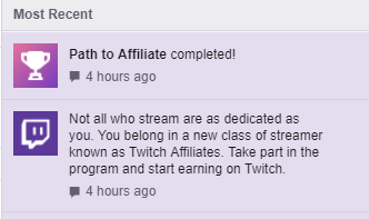 Twitch Affilliate